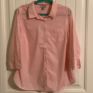 JCP 1X Dots & Stripes 3/4 Sleeves